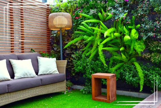 Apropiación de las zonas verdes dentro de las casas